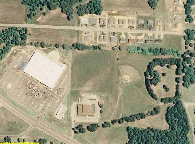 Hardeman County, TN aerial photography detail
