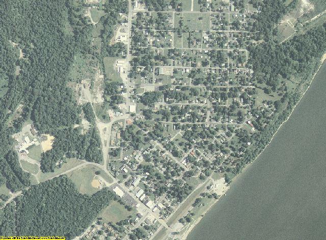 Hardin County, Illinois aerial photography