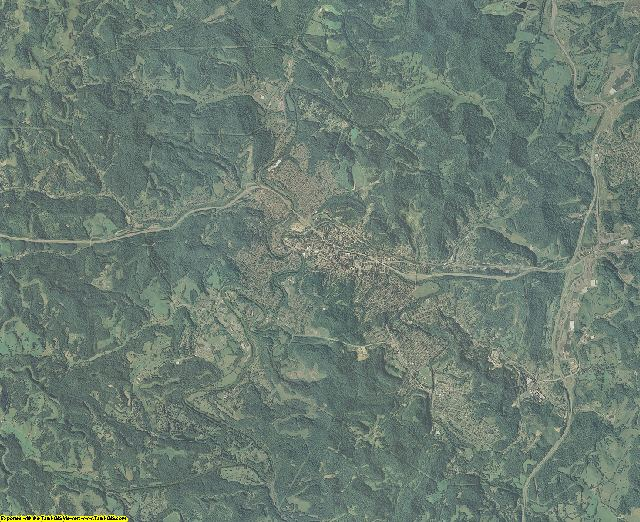 Harrison County, West Virginia aerial photography