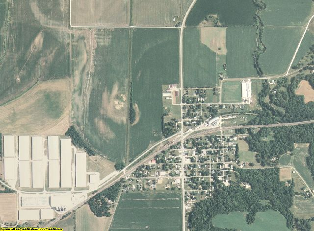 Henderson County, Illinois aerial photography