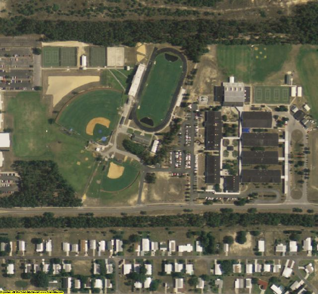 Sample is not of Hernando Beach FL We will make your Custom Aerial Photo Map
