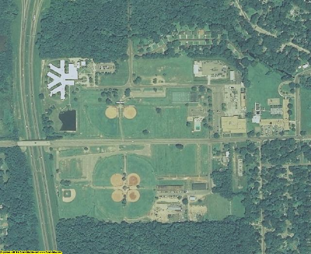 Hinds County, MS aerial photography detail