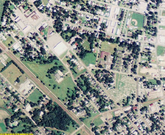 Iberia County, LA aerial photography detail