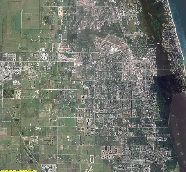 Indian River County, Florida aerial photography