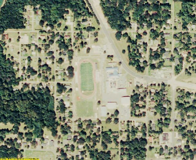 Jackson County, LA aerial photography detail
