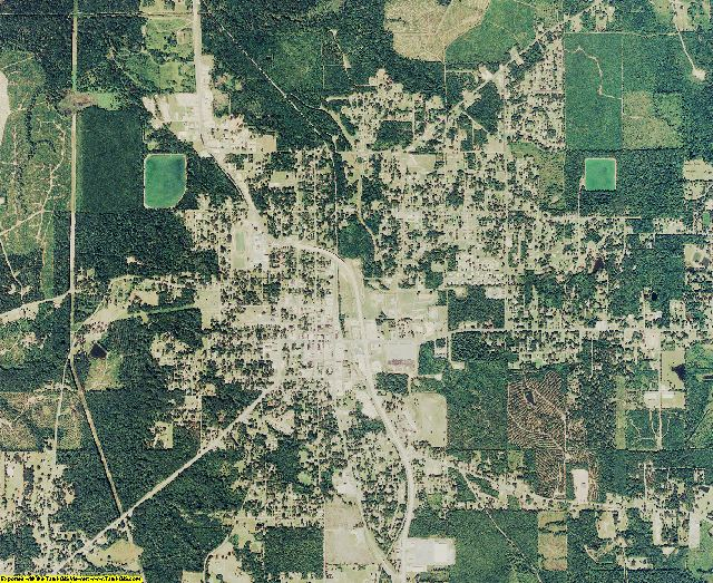 Jackson County, Louisiana aerial photography