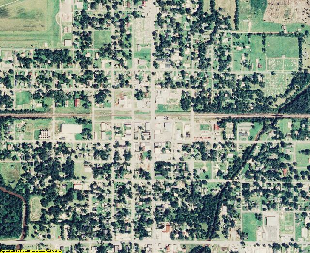 Jefferson Davis County, LA aerial photography detail
