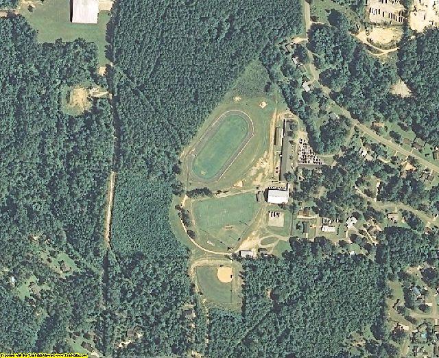 Jefferson Davis County, MS aerial photography detail