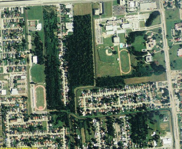 Jefferson County, LA aerial photography detail