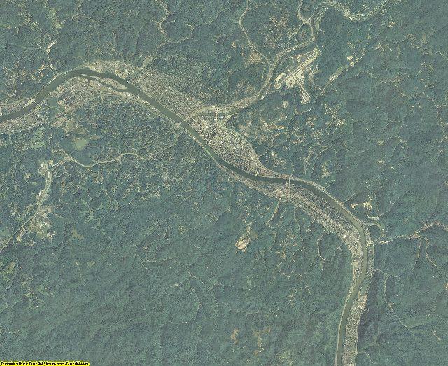 Kanawha County, West Virginia aerial photography