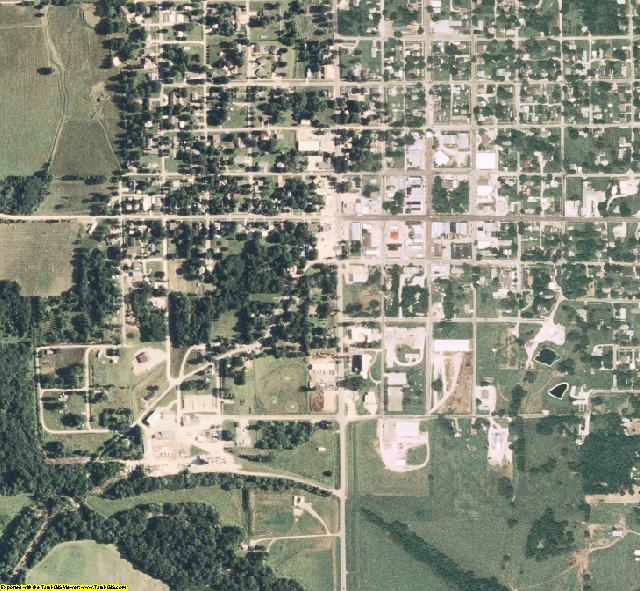 Knox County, MO aerial photography detail