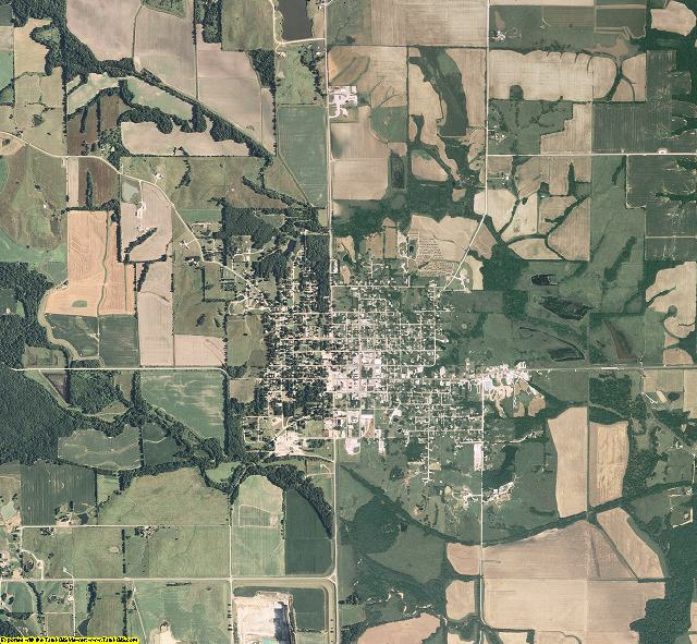 Knox County, Missouri aerial photography