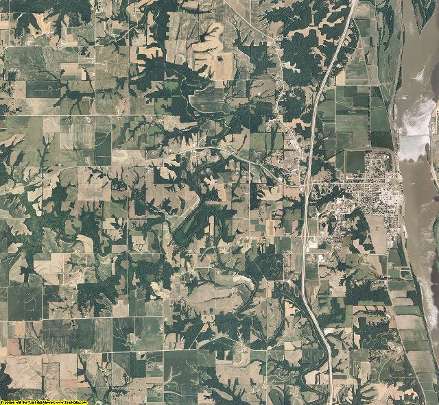 Lewis County, Missouri aerial photography