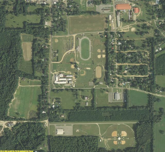 Liberty County, FL aerial photography detail