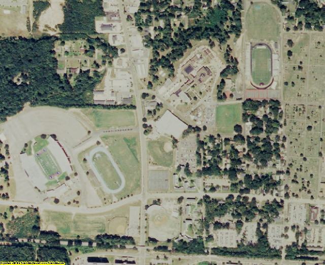 Lincoln County, LA aerial photography detail