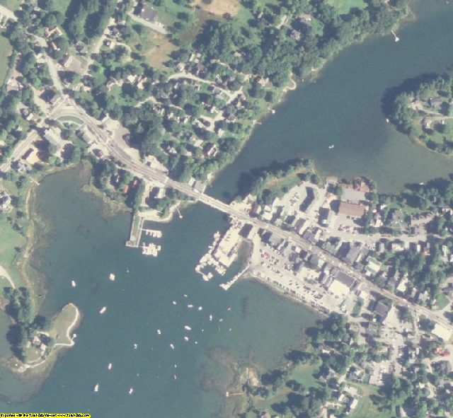 Lincoln County, ME aerial photography detail