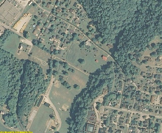 Lincoln County, WV aerial photography detail