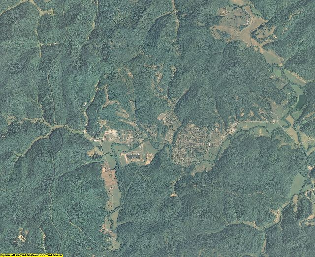 Lincoln County, West Virginia aerial photography