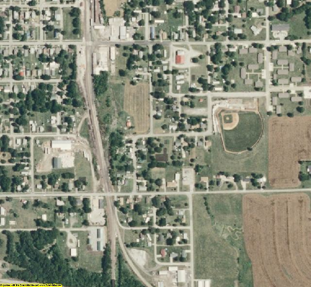 Livingston County, MO aerial photography detail
