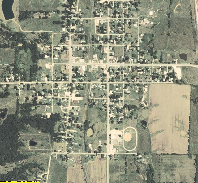Macon County, MO aerial photography detail