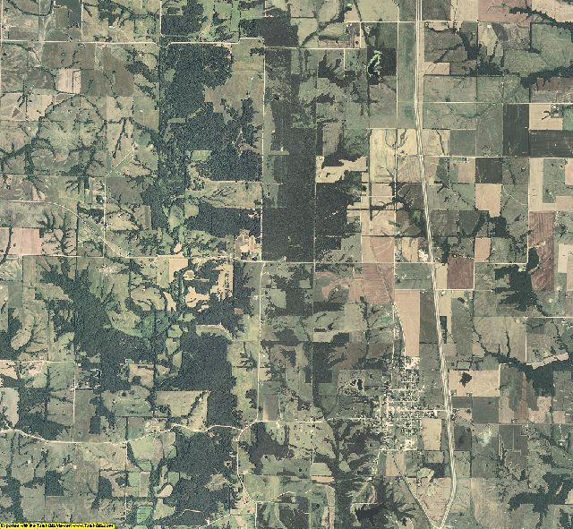 Macon County, Missouri aerial photography