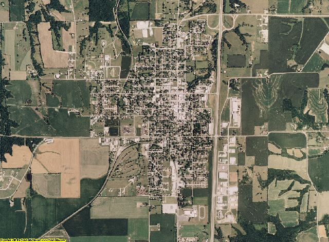 Marion County, Missouri aerial photography