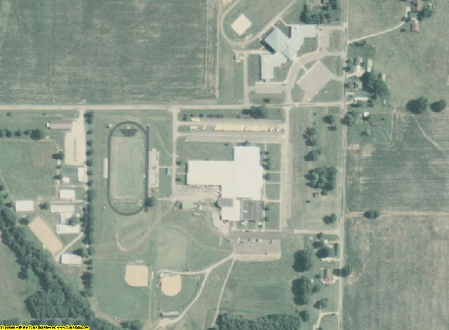 Massac County, IL aerial photography detail