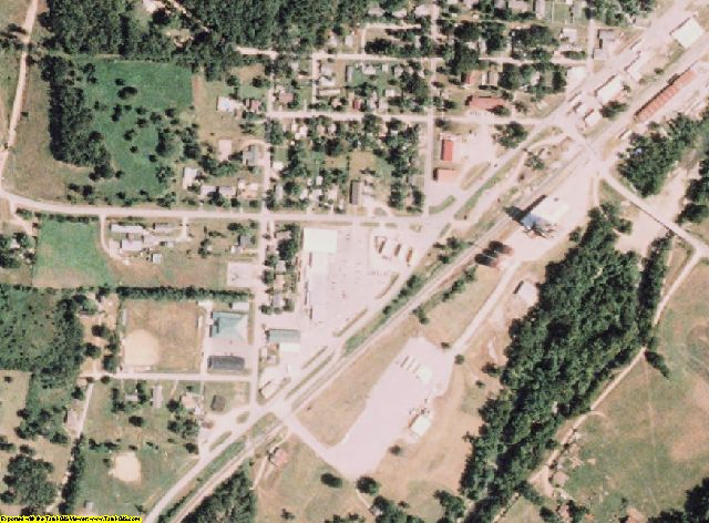 McDonald County, MO aerial photography detail