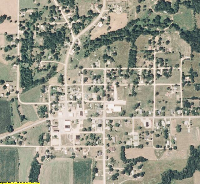 Mercer County, MO aerial photography detail