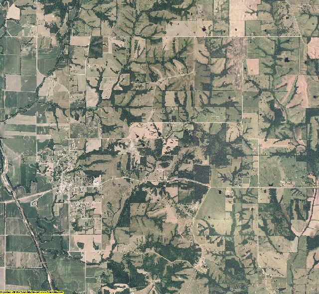 Mercer County, Missouri aerial photography