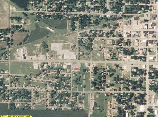Mississippi County, MO aerial photography detail