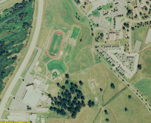 Natchitoches County, LA aerial photography detail