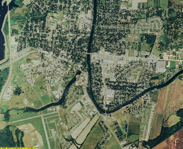 Natchitoches County, Louisiana aerial photography