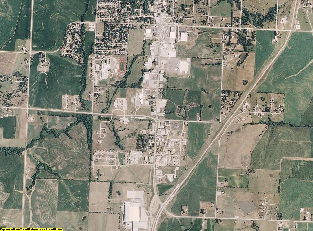 Nodaway County, Missouri aerial photography