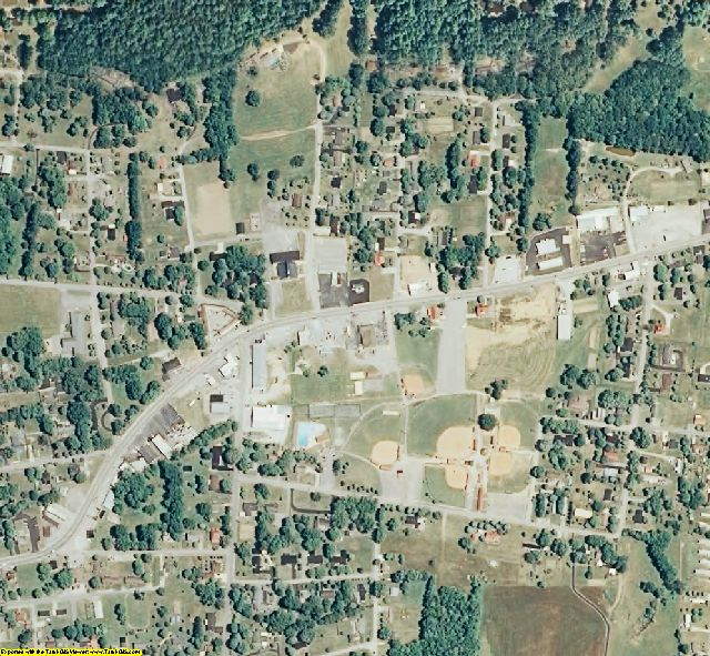 Overton County, TN aerial photography detail