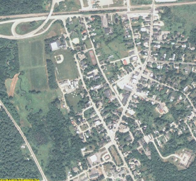 Oxford County, ME aerial photography detail