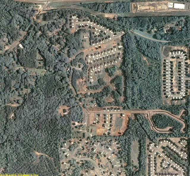Paulding County, GA aerial photography detail