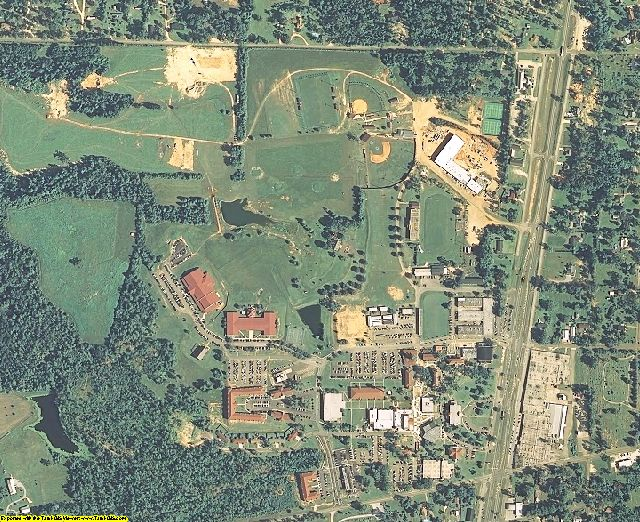 Pearl River County, MS aerial photography detail