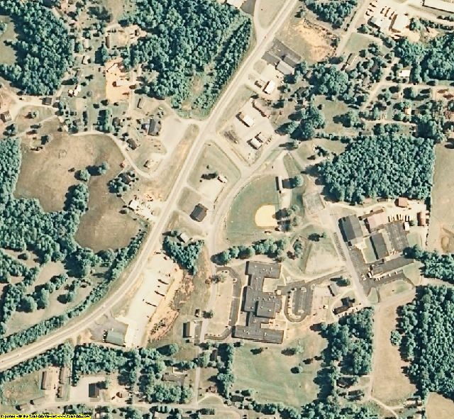 Pickett County, TN aerial photography detail
