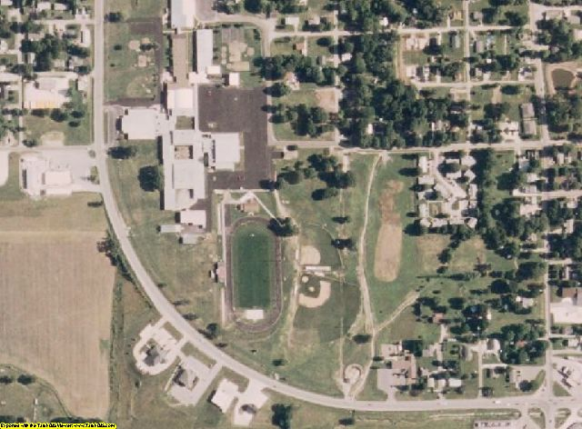 Pike County, MO aerial photography detail