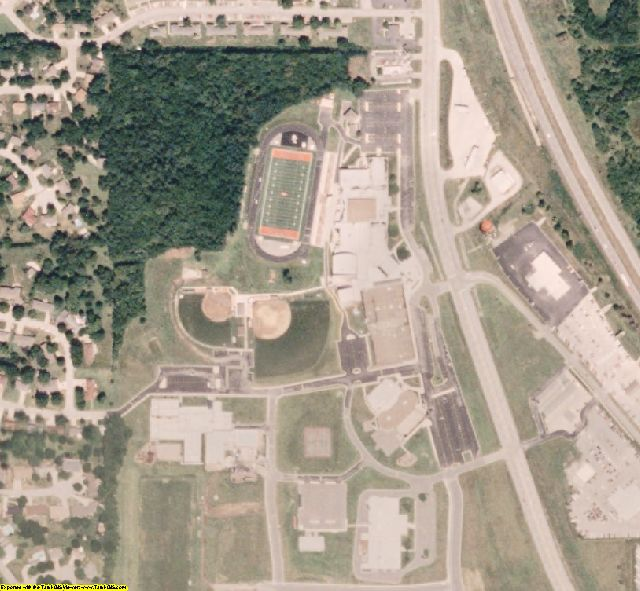 Platte County, MO aerial photography detail
