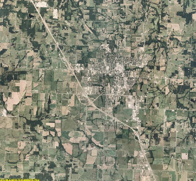 Polk County, Missouri aerial photography