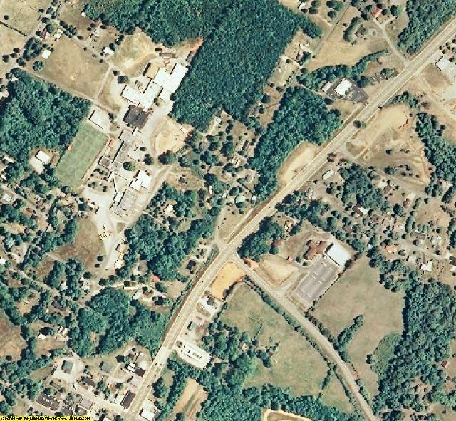 Polk County, TN aerial photography detail