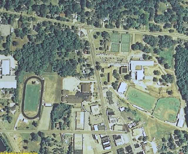Pontotoc County, MS aerial photography detail