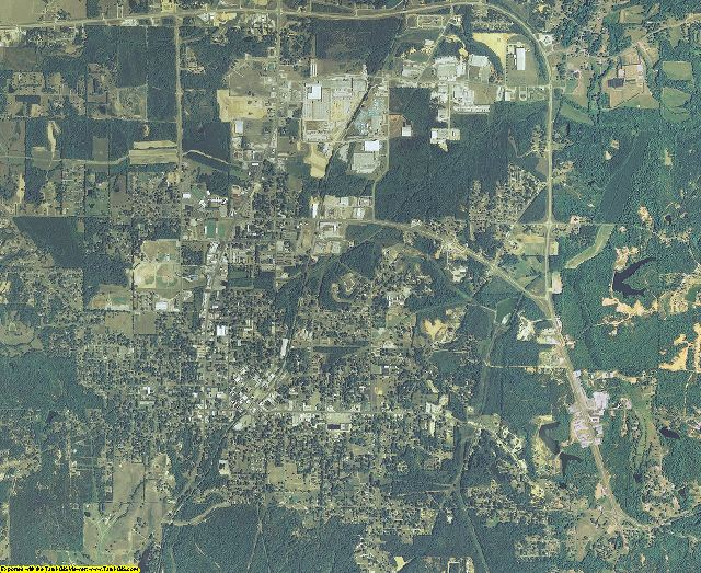 Prentiss County, Mississippi aerial photography