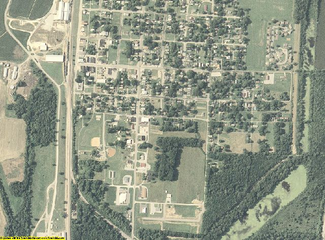 Pulaski County, Illinois aerial photography