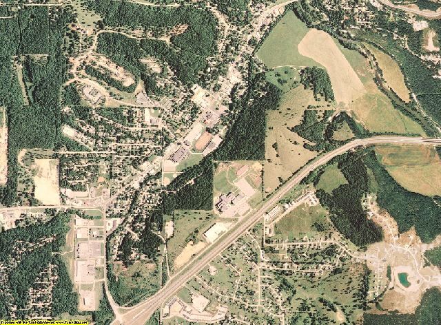 Pulaski County, Missouri aerial photography