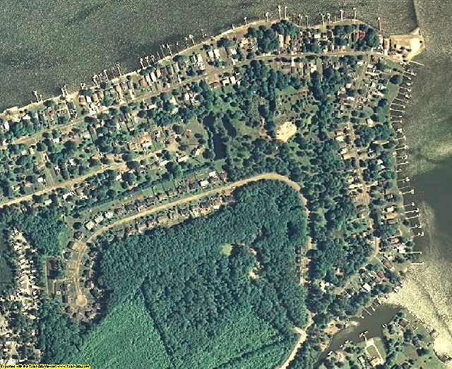 Queen Anne's County, MD aerial photography detail