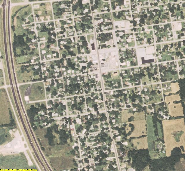 Ralls County, MO aerial photography detail