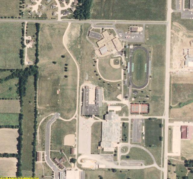 Randolph County, MO aerial photography detail